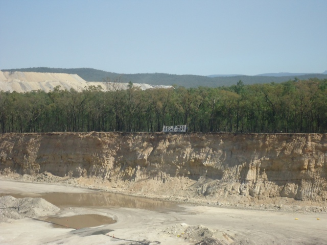 Banner between the Tarrawonga open pit and Leard Forest